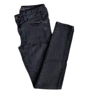 AE Black Denim Skinny Jeggings • 8